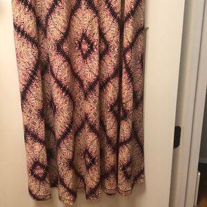 London Times Dresses - Multi color long dress with hem at waist
